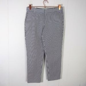 J.Crew Cafe Capri Seersucker Pants